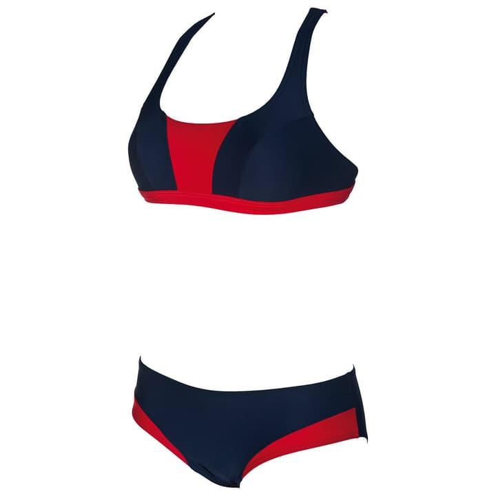 Sporty Crossed Top Bikini pour femme Arena 462171303643 Couleur bleu marine Taille 36 Photo no. 1