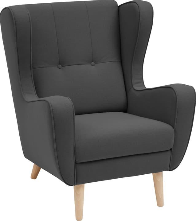 BRAHMS Sessel 402462807084 Grösse B: 80.0 cm x T: 90.0 cm x H: 97.5 cm Farbe Anthrazit Bild Nr. 1