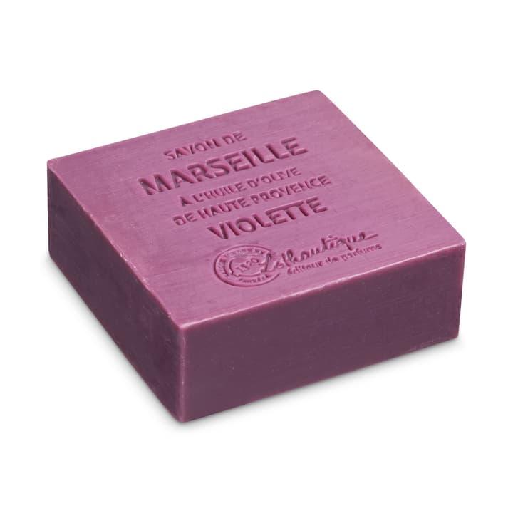 MARSEILLE Sapone violette 374143400145 Dimensioni L: 6.5 cm x P: 6.5 cm x A: 2.5 cm Colore Viola N. figura 1