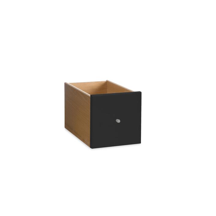 VIDO Schublade mini 362011275303 Grösse B: 18.0 cm x T: 18.0 cm x H: 33.0 cm Farbe Schwarz Bild Nr. 1