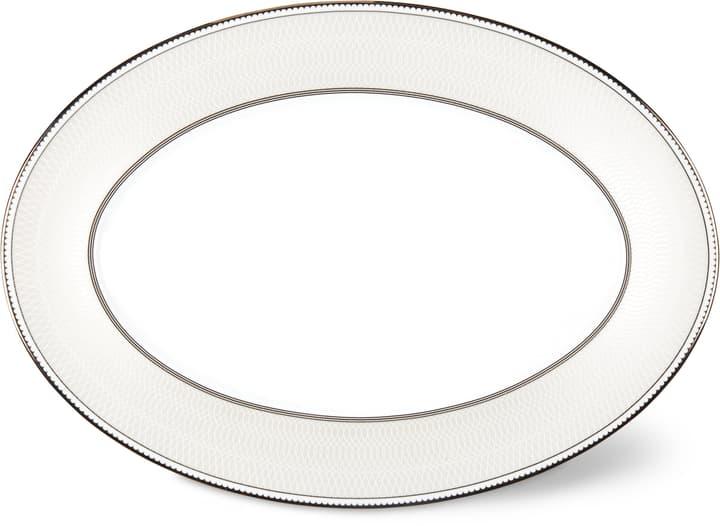 NOBLESSE Piatto 36cm Cucina & Tavola 700160400009 Colore Bianco / Argento Dimensioni L: 36.0 cm x P: 25.5 cm x A: 1.5 cm N. figura 1