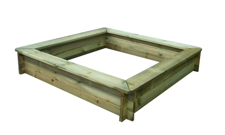 Bac à sable avec assise 160x160cm 647187700000 Photo no. 1