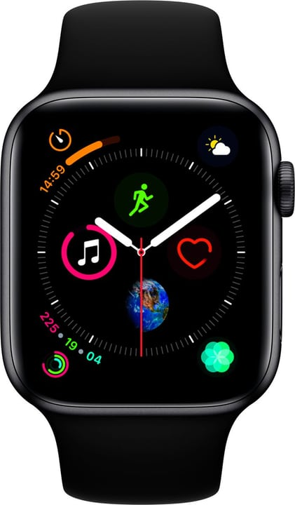 Watch Serie 4 44mm GPS+Cellular space gray Aluminum Black Sport Band Smartwatch Apple 798454200000 Photo no. 1