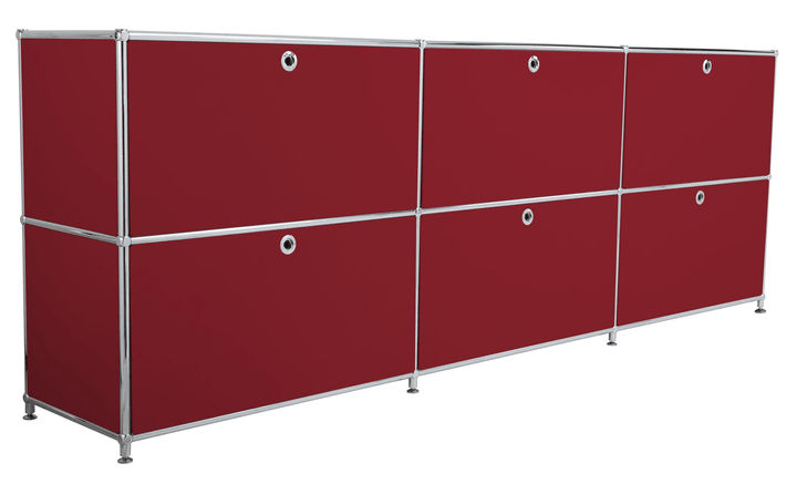 FLEXCUBE Sideboard 401809700030 Grösse B: 227.0 cm x T: 40.0 cm x H: 80.5 cm Farbe Rot Bild Nr. 1