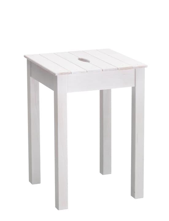 Holz-Taburett 402338300000 Grösse B: 32.0 cm x T: 32.0 cm x H: 46.0 cm Farbe Weiss Bild Nr. 1