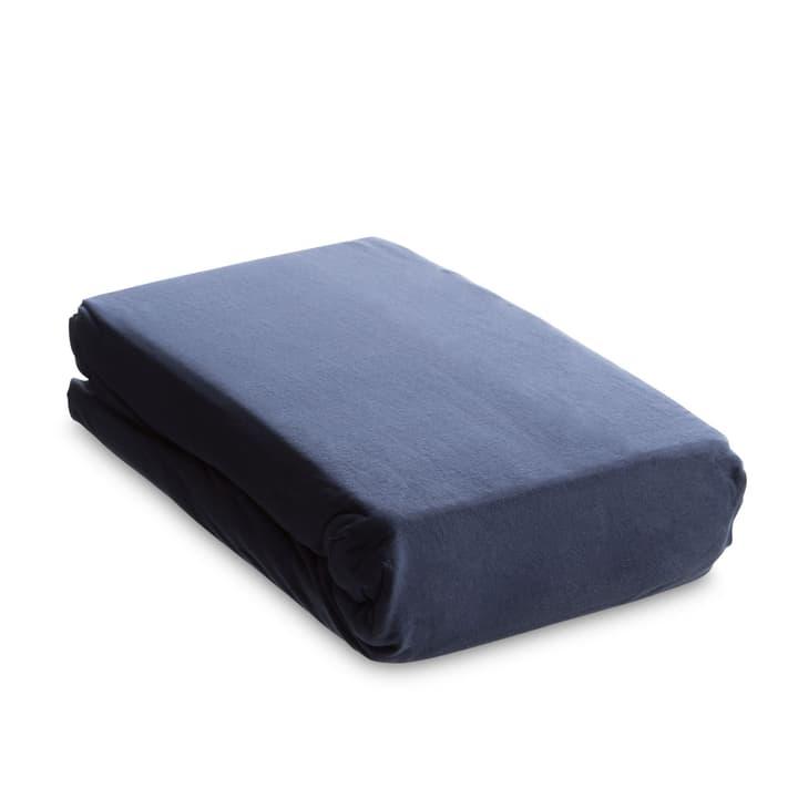 JERSEY PLUS Drap-housse 376009867102 Couleur Bleu foncé Dimensions L: 200.0 cm x L: 160.0 cm Photo no. 1