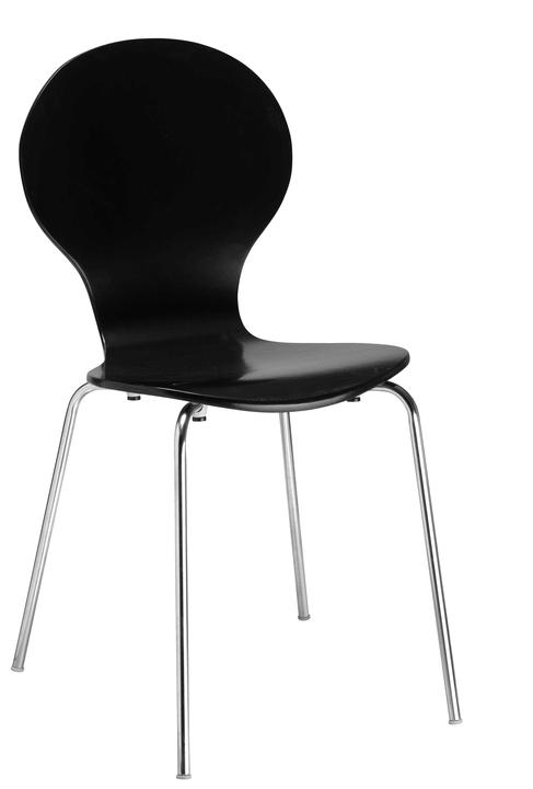 JACOBI Chaise 403827501420 Dimensions L: 46.0 cm x P: 44.0 cm x H: 85.0 cm Couleur Noir Photo no. 1