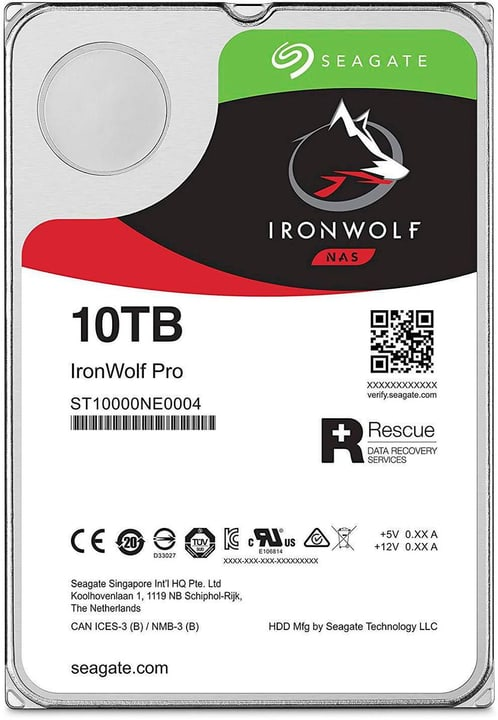"IronWolf Pro SATA 3.5"" 10 TB Disque Dur Interne HDD Seagate 785300145836 Photo no. 1"