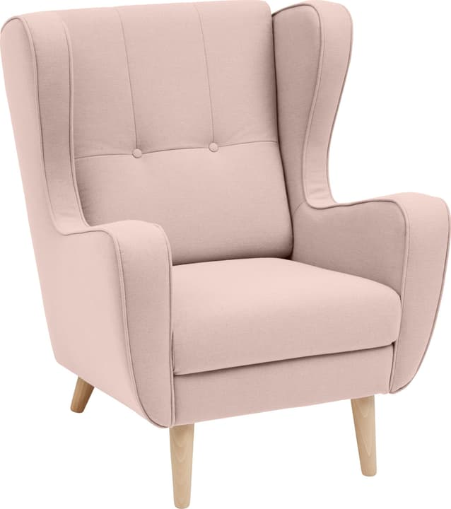 BRAHMS Sessel 402462807038 Grösse B: 80.0 cm x T: 90.0 cm x H: 97.5 cm Farbe Rosa Bild Nr. 1