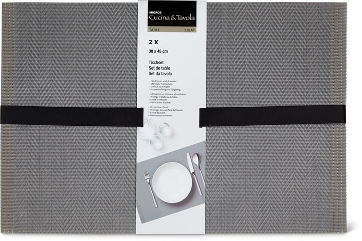Set da tavola 2pz Cucina & Tavola 700368000080 Colore grigio N. figura 1