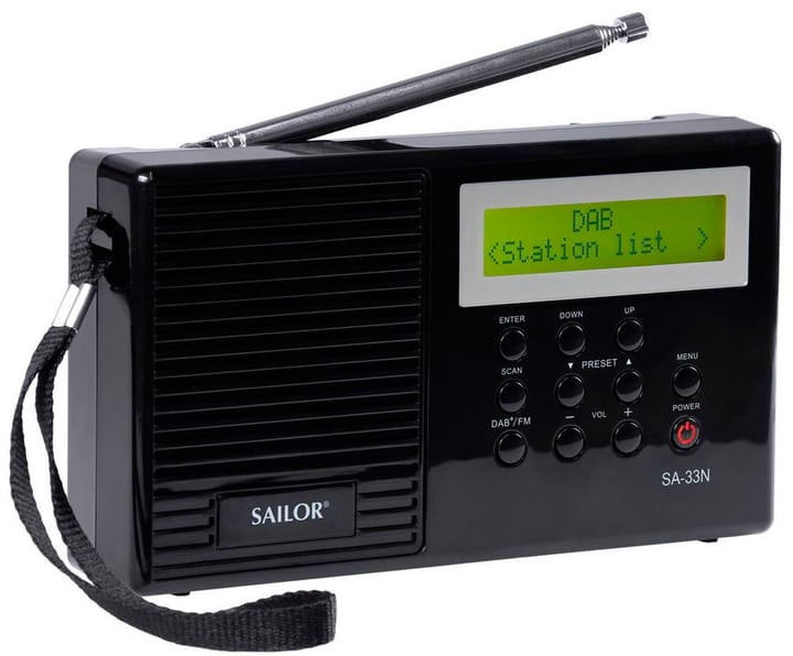 SA-33N - Schwarz Digitalradio DAB+ Sailor 785300130715 Bild Nr. 1