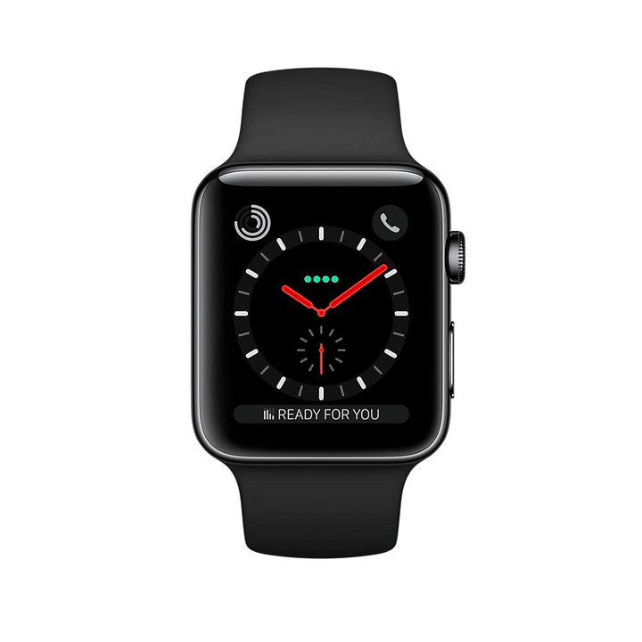 Watch Series 3 GPS/LTE 42mm space black/stainless black/black Apple 785300129993 Photo no. 1