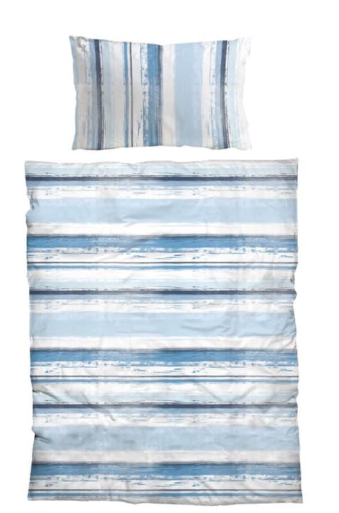 DALMIRO Garnitura da letto in microfibra 451247214440 Colore Blu Dimensioni L: 160.0 cm x A: 210.0 cm N. figura 1