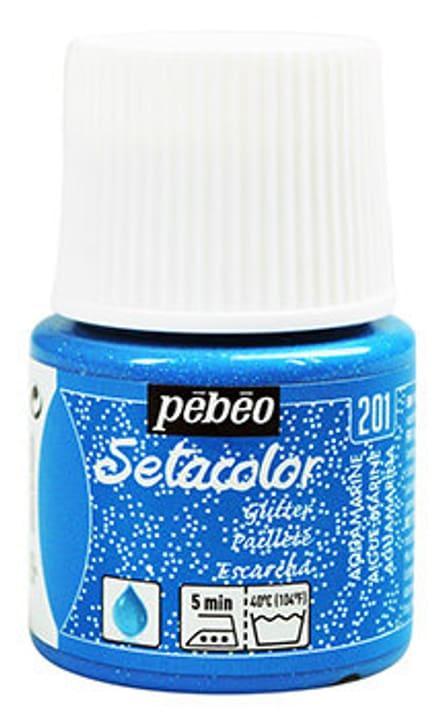 Sétacolor paillette 45ml Aigue-Marine Pebeo 665468100000 Colore Marine N. figura 1