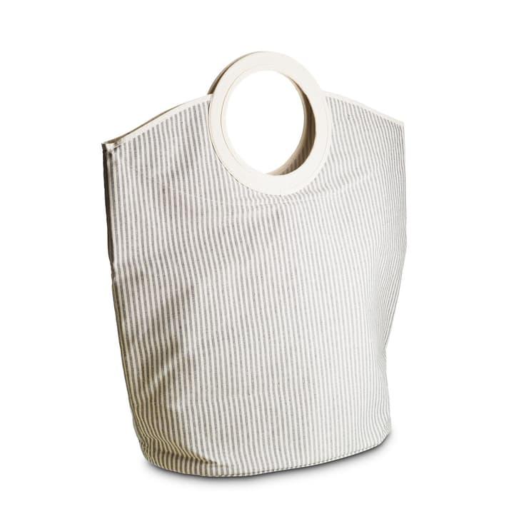 CANESTRO Wäschekorb 374082000000 Farbe Weiss gestreift Grösse B: 50.0 cm x T: 30.5 cm x H: 75.0 cm Bild Nr. 1