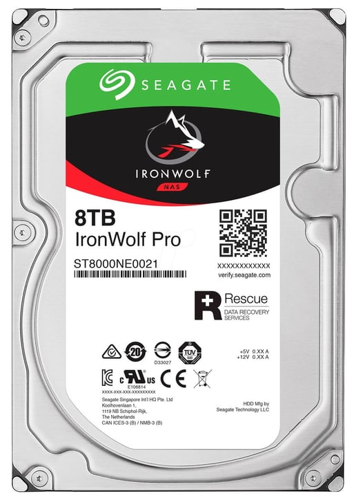 "IronWolf PRO 8TB disco rigido interno SATA 3.5"" Seagate 785300126749"