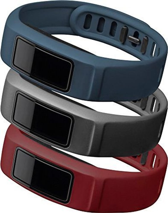 Vivofit 2 bracelet Small bordeaux, gris, bleu marine Garmin 785300125462 Photo no. 1