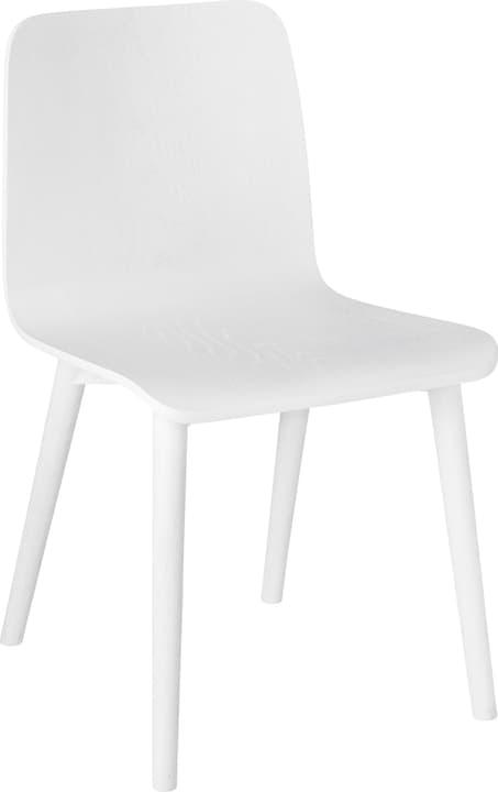 DE LUCA Chaise 402356500010 Dimensions L: 45.5 cm x P: 55.0 cm x H: 79.5 cm Couleur Blanc Photo no. 1