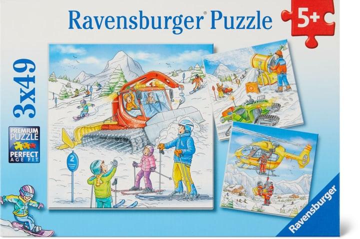 Sur les pistes-ski Ravensburger Puzzle 748977500000 Photo no. 1