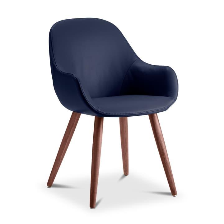 LAYLA Chaise cuir aniline Sauvage 366028830710 Dimensions L: 56.0 cm x P: 60.0 cm x H: 84.0 cm Couleur Bleu foncé Photo no. 1