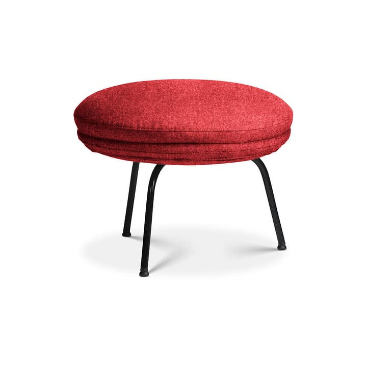 SAPO Pouf Edition Interio 360434108030 Dimensions L: 55.0 cm x P: 55.0 cm x H: 42.0 cm Couleur Rouge Photo no. 1