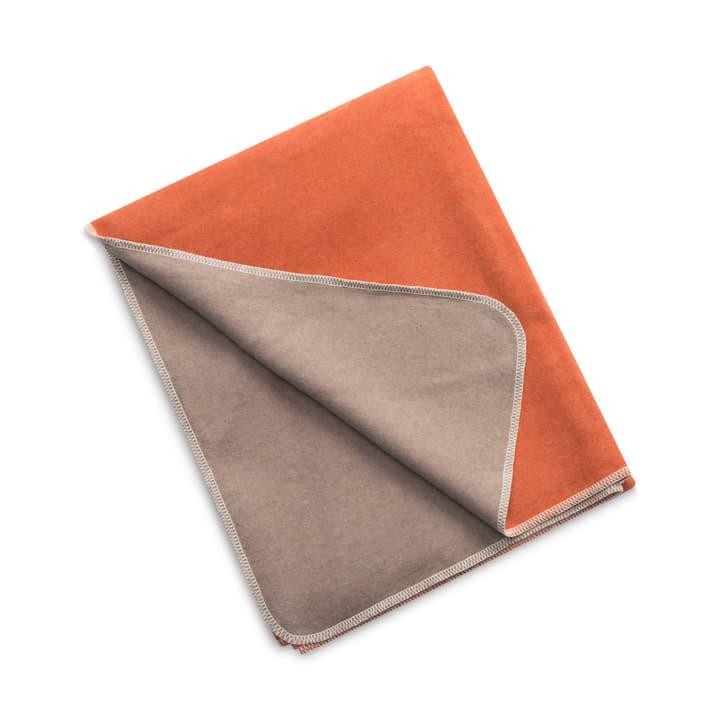SILVIO Plaid 378182743234 Colore Arancione Dimensioni L: 140.0 cm x A: 200.0 cm N. figura 1