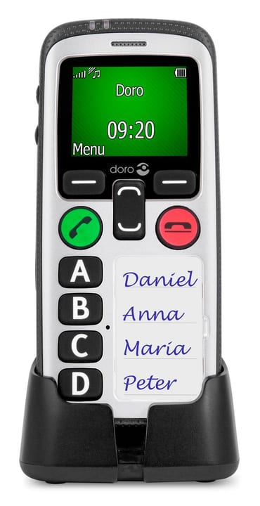 Secure 580 schwarz weiss Mobiltelefon Doro 785300122938 Bild Nr. 1