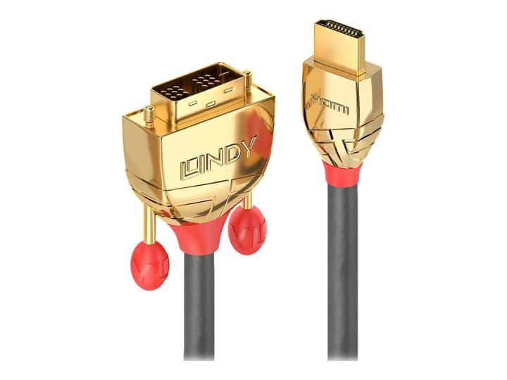 HDMI - DVI Kabel, Gold Line 3m Kabel LINDY 785300141570 Bild Nr. 1
