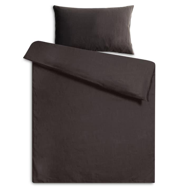 LINEN Federa per cuscino lino 376006865702 Colore Nero/marrone Dimensioni L: 65.0 cm x L: 65.0 cm N. figura 1