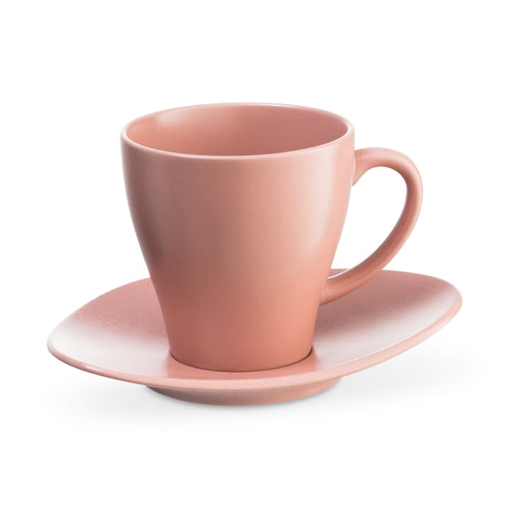 CUBA Kaffeetasse inkl. Untertassenteller ASA 393219702038 Grösse B: 8.5 cm x T: 8.5 cm x H: 9.0 cm Farbe Rosa Bild Nr. 1