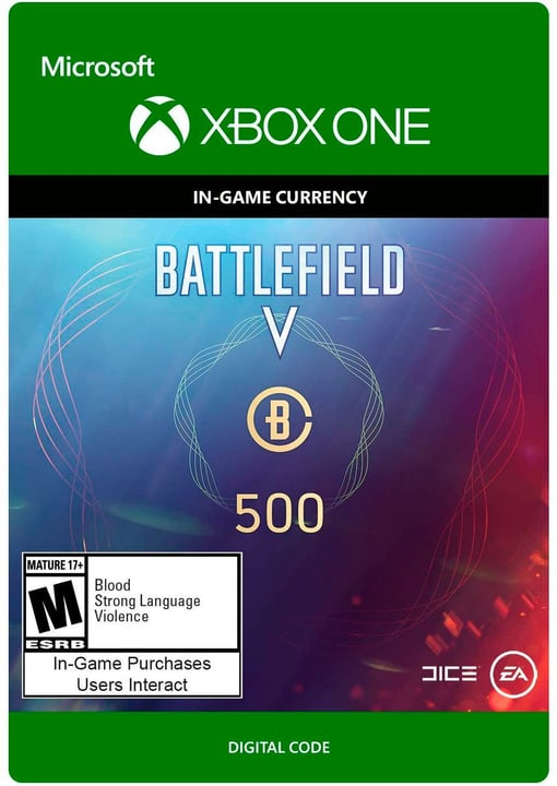 Xbox One - Battlefield V Currency 500 Download (ESD) 785300141681 N. figura 1
