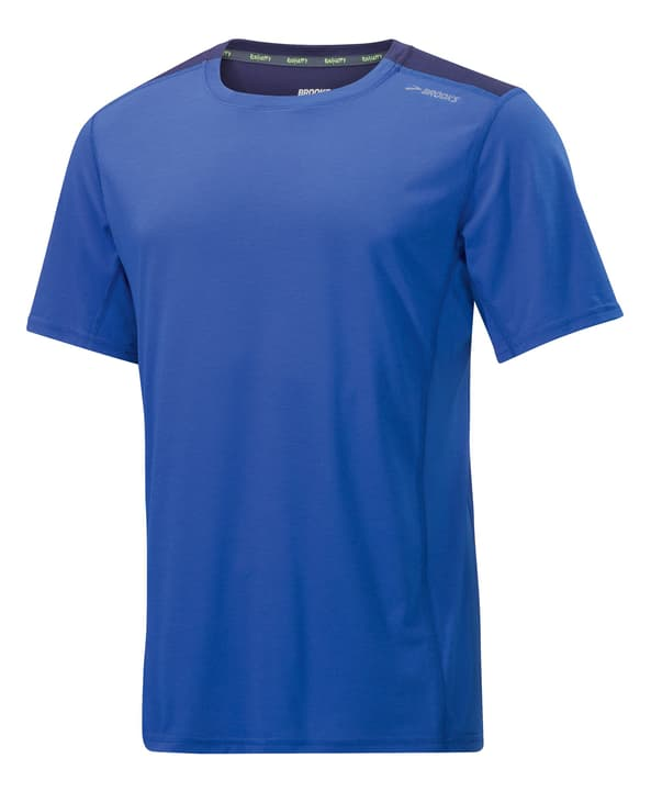 DISTANCE SHOR SLEEVE Shirt pour homme Brooks 470154300440 Couleur bleu Taille M Photo no. 1