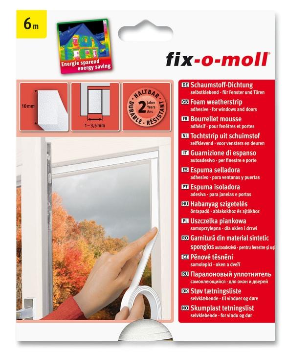 Schaumstoff-Dichtung 10 x 4 mm, 6 m Fix-O-Moll 673001800000 Bild Nr. 1