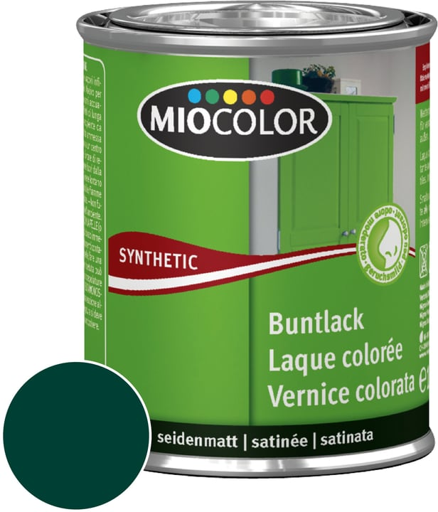 Synthetic Vernice colorata opaca Verde muschio 750 ml Miocolor 661438300000 Contenuto 750.0 ml Colore Verde muschio, Verde muschio N. figura 1