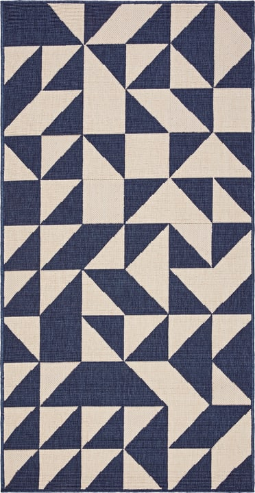 FENIX Teppich 412017108040 Farbe blau Grösse B: 80.0 cm x T: 150.0 cm Bild Nr. 1