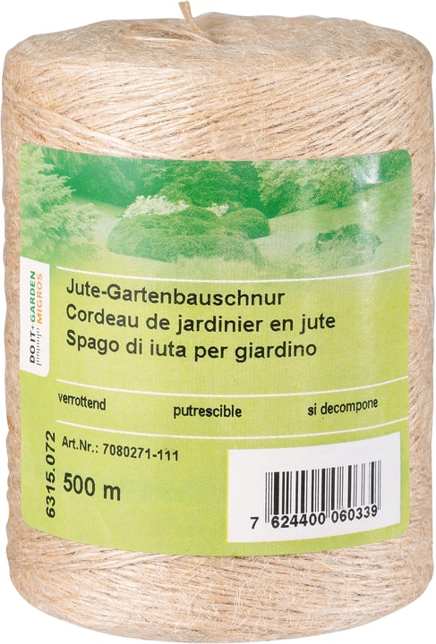 Cordieau jardinier en jute 500m Miogarden 631507200000 Photo no. 1