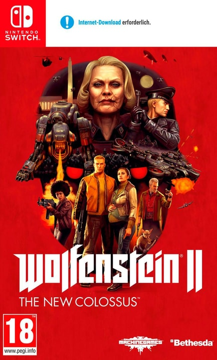 Switch - Wolfenstein II: The New Colossus (D) Box 785300135392 Photo no. 1