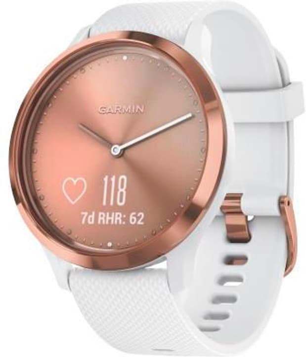 Vivomove HR Sport - blanche/or rose Hybrid-Smartwatch Garmin 785300133056 Photo no. 1