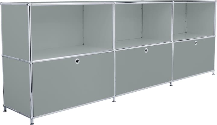 FLEXCUBE Buffet 401809600080 Dimensions L: 227.0 cm x P: 40.0 cm x H: 80.5 cm Couleur Gris Photo no. 1