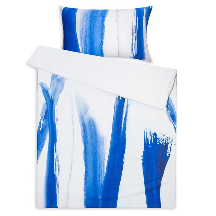 MILA Satin-Kissenbezug 376072710840 Grösse L: 70.0 cm x B: 50.0 cm Farbe Blau Bild Nr. 1