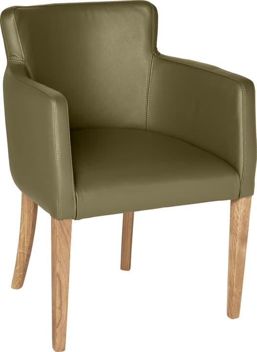 MORISANO Chaise 402358300065 Dimensions L: 56.0 cm x P: 46.0 cm x H: 79.0 cm Couleur Olive Photo no. 1