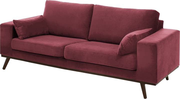 MORITZ Canapé 2.5 places 405741925334 Couleur Bordeaux Dimensions L: 218.0 cm x P: 90.0 cm x H: 81.0 cm Photo no. 1