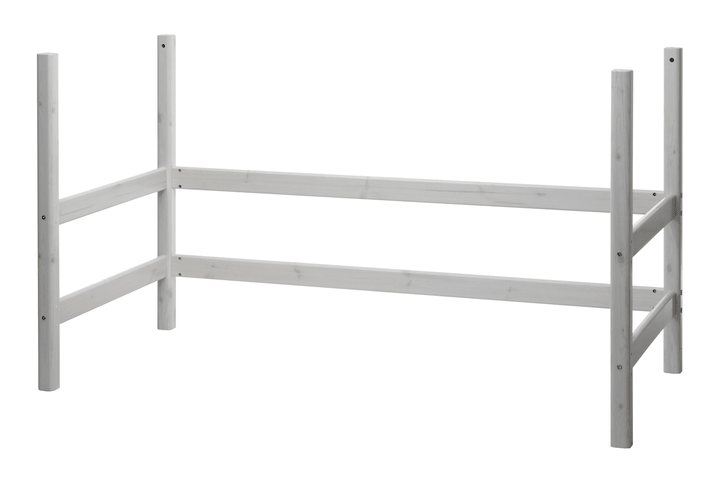 CLASSIC Montanti letto rialzato Flexa 404872700000 Dimensioni L: 100.0 cm x P: 210.0 cm x A: 118.0 cm Colore White Wash N. figura 1