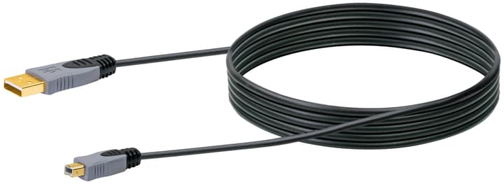 Kabel USB 2.0 HQ 2m schwarz, USB 2.0 TypA / USB 2.0 TypB Schwaiger 613184300000 Bild Nr. 1