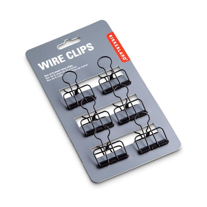 WIRE clip 6 pcs 386172500000 Dimensions L: 3.0 cm x P: 4.0 cm x H: 1.0 cm Couleur Noir Photo no. 1