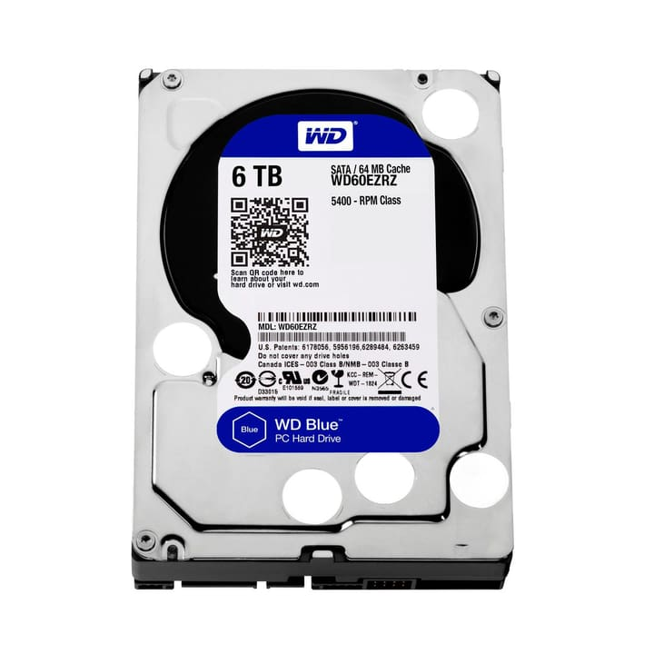"Blue 6TB SATA 3.5"" Hard disk Interno HDD Western Digital 785300126645 N. figura 1"