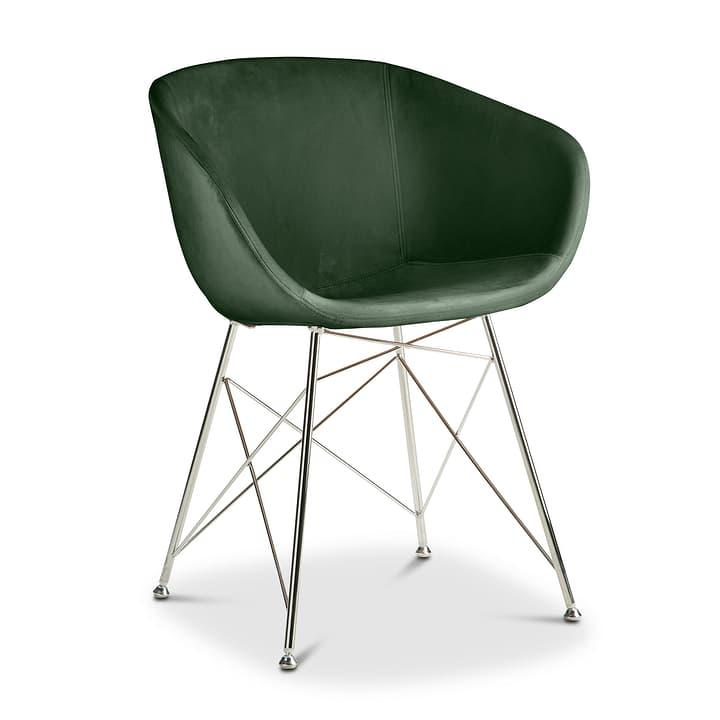 SEDIA Stuhl mit Armlehne 366170600000 Farbe Dunkelgrün Grösse B: 45.0 cm x T: 58.0 cm x H: 81.0 cm Bild Nr. 1
