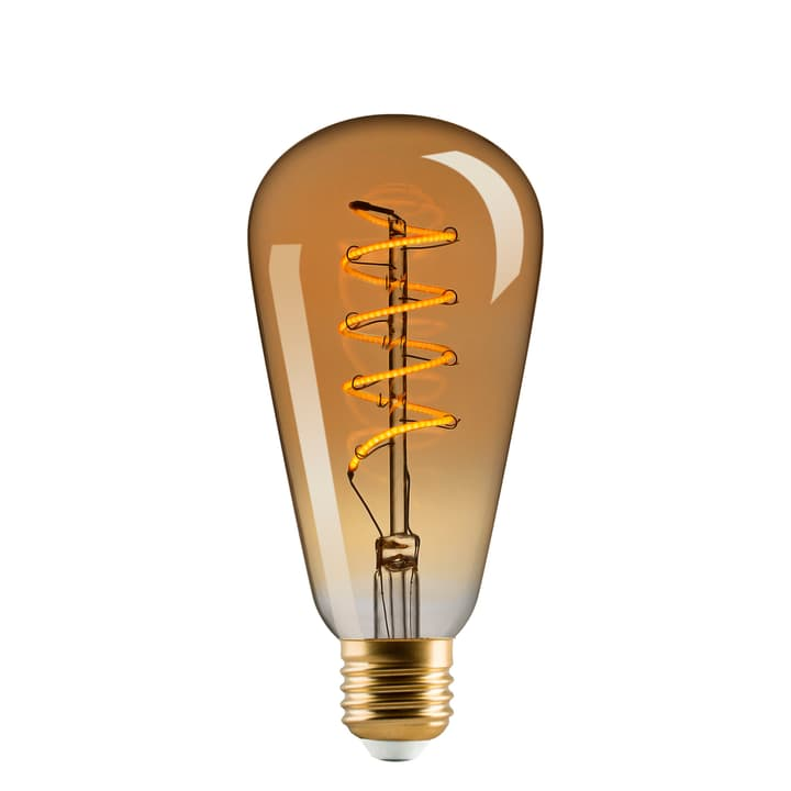 LED E27 4W Vintage twisted lou gold ST64 421058800000 N. figura 1