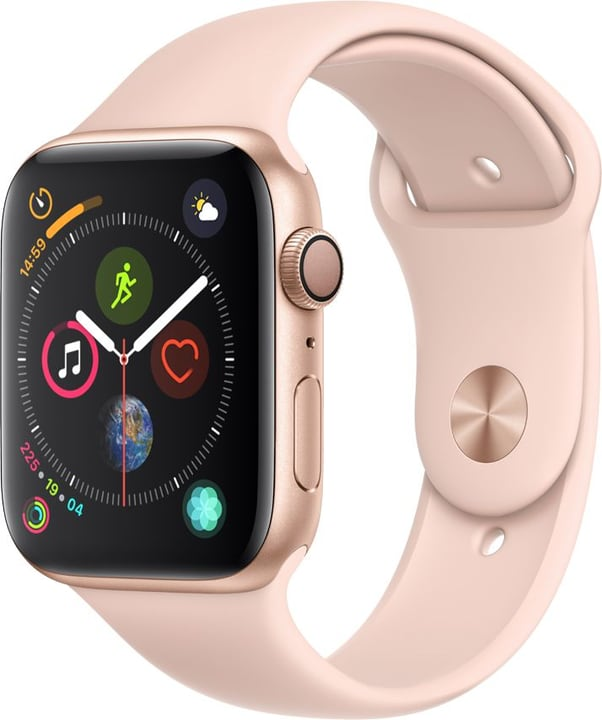 Watch Serie 4 44mm GPS gold Aluminum Pink Sand Sport Band Smartwatch Apple 798456200000 Photo no. 1