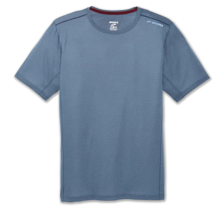 Ghost Short Sleeve Shirt pour homme Brooks 470173700447 Couleur denim Taille M Photo no. 1